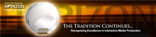 9th Annual Horizon Interactive Awards promotional banner