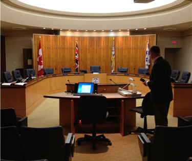 District West Vancouver Council Chamber