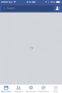 Facebook-Secondary Loading 10 sec