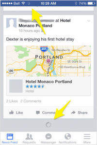 Facebook-in App loading notifications-Annotated