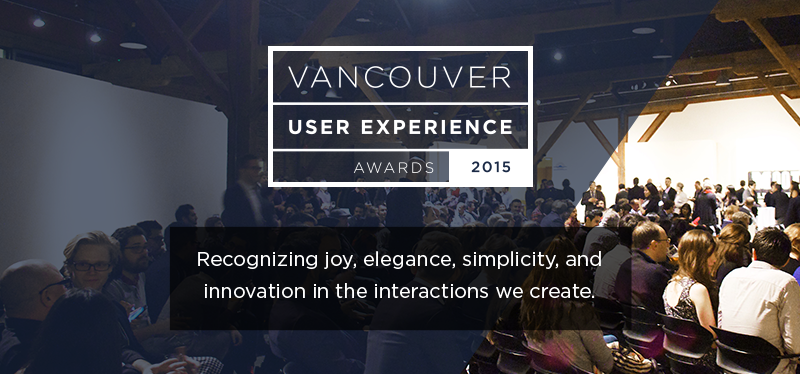 Vancouver User Experiences Awards 2015 promotional banner