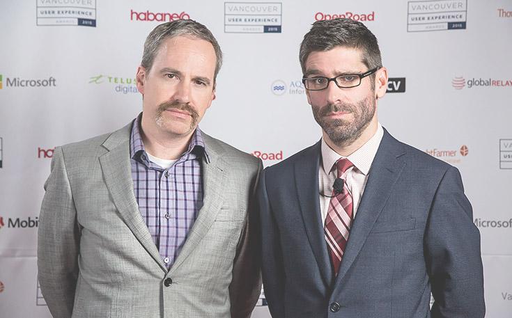 Darren Gibbons and Gordon Ross raising awareness for Movember