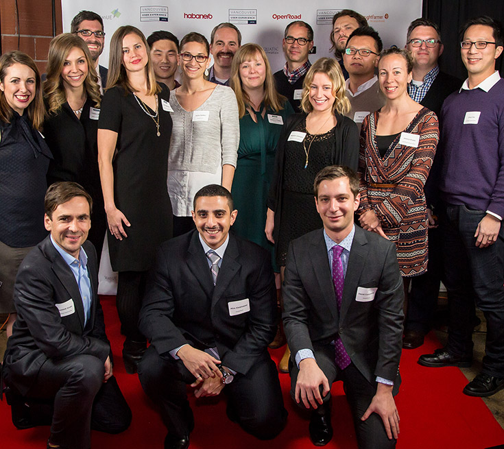 OpenRoad staff at the 2015 Vancouver Ueer Experience (VanUX) Awards