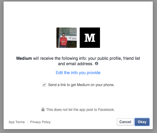 Privacy Facebook with Medium
