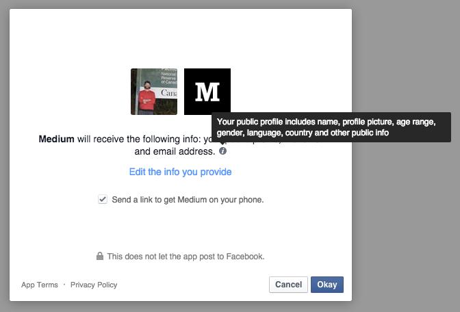 Privacy Facebook (Tooltip) through Medium