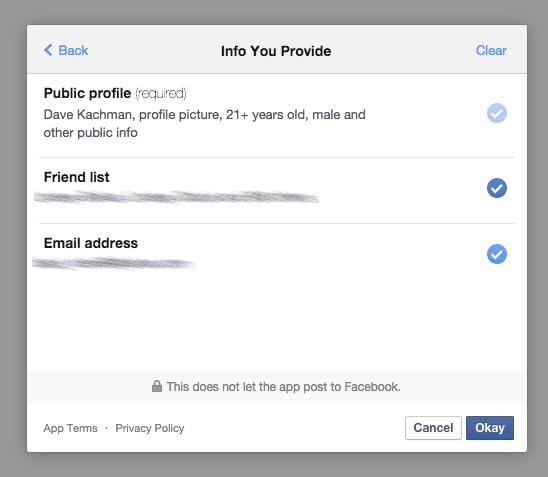 Terms of Login Edit Info You Provide through Facebook