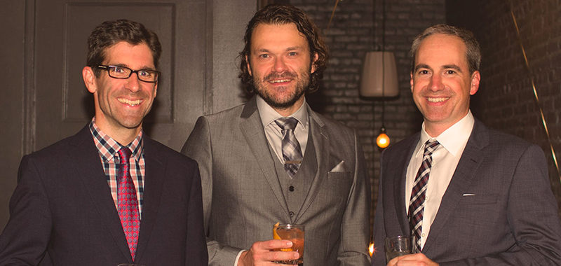 Gordon Ross, Wil Arndt, and Darren Gibbons at the OpenRoad 20 years celebration