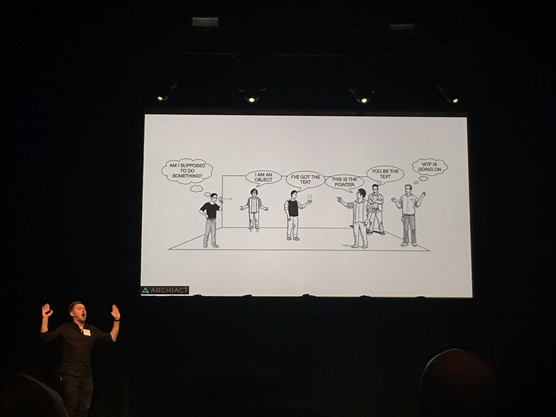 Kharis O'Connell, Head of Product at Archiact presenting at the 2016 Vancouver User Experience Awards