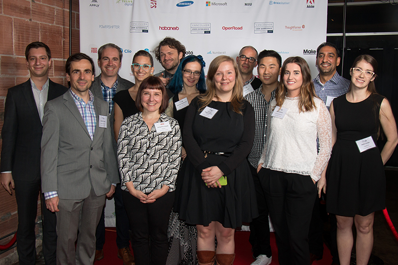 OXD team members at the 2016 Vancouver User Experience Awards