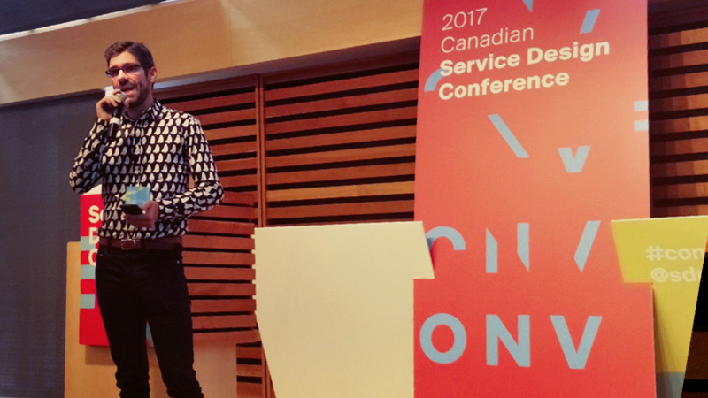 OpenRoad partner Gordon Ross speaks at Converge: 2017 Canadian Service Design Conference in Toronto
