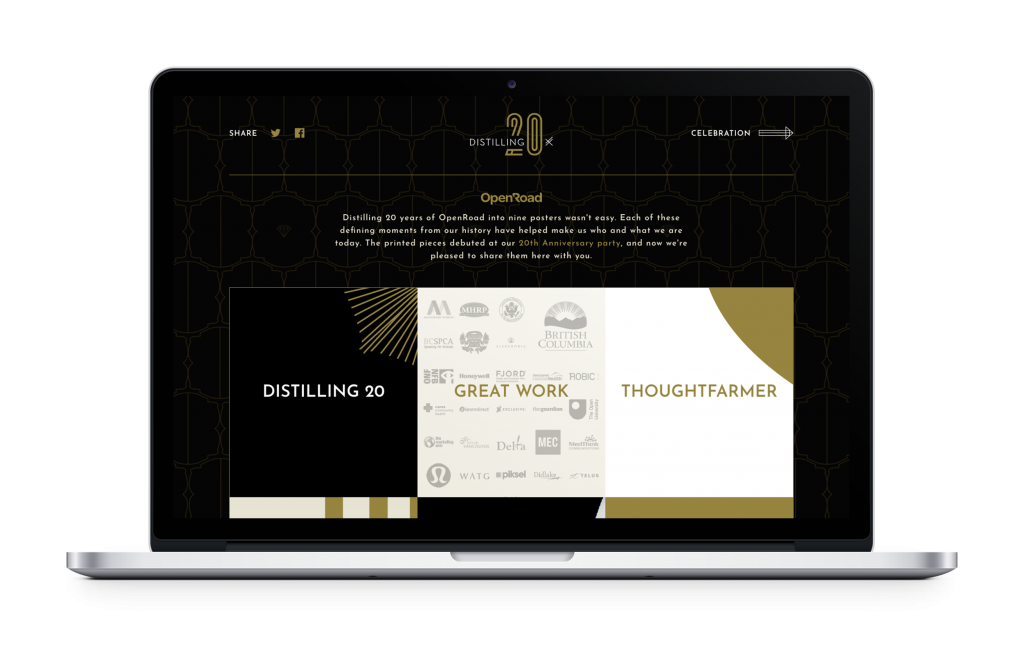 OpenRoad Communications (now OXD) Wins Two Horizon Interactive Awards for 20 years website