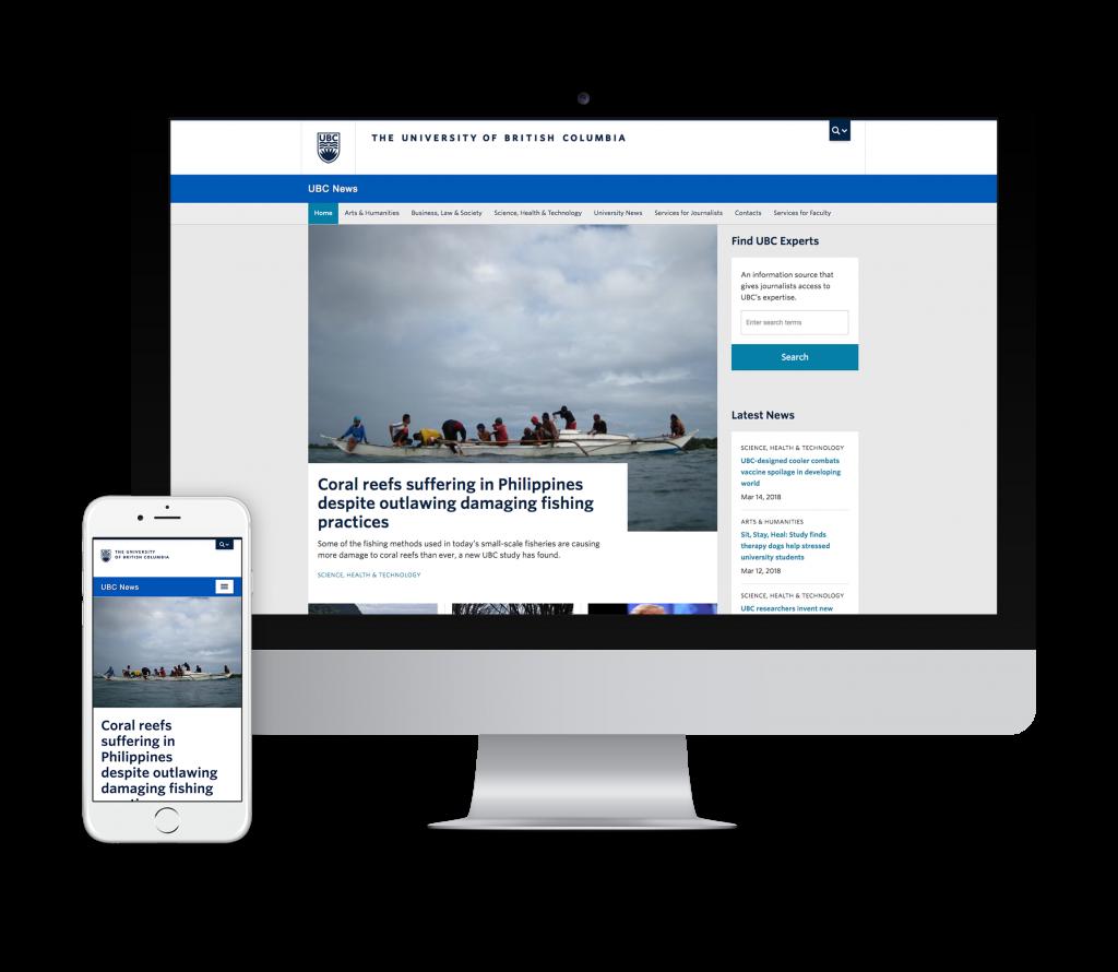 UBC News Microsite by OXD