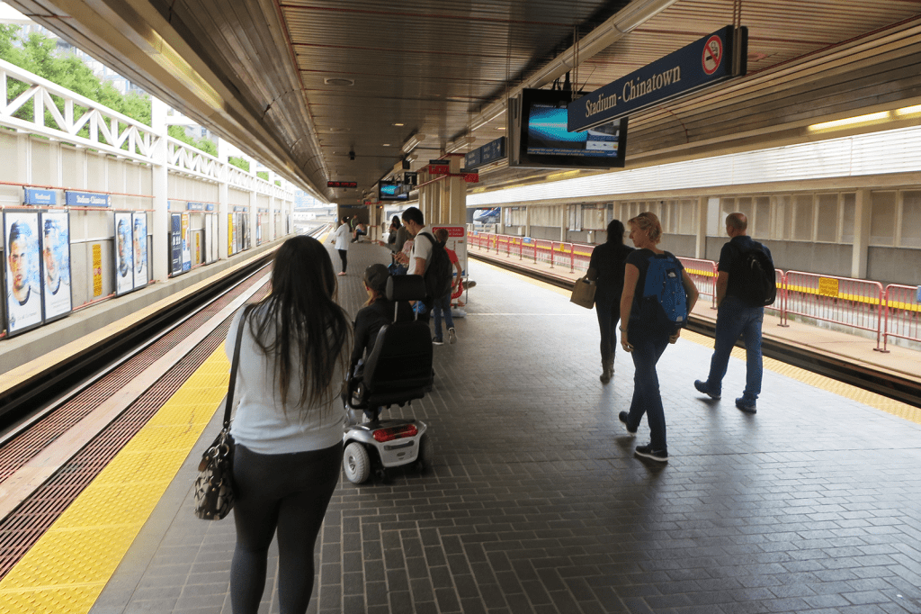 Photo of subway representing OXD's work with TransLink on a Design for Policy approach