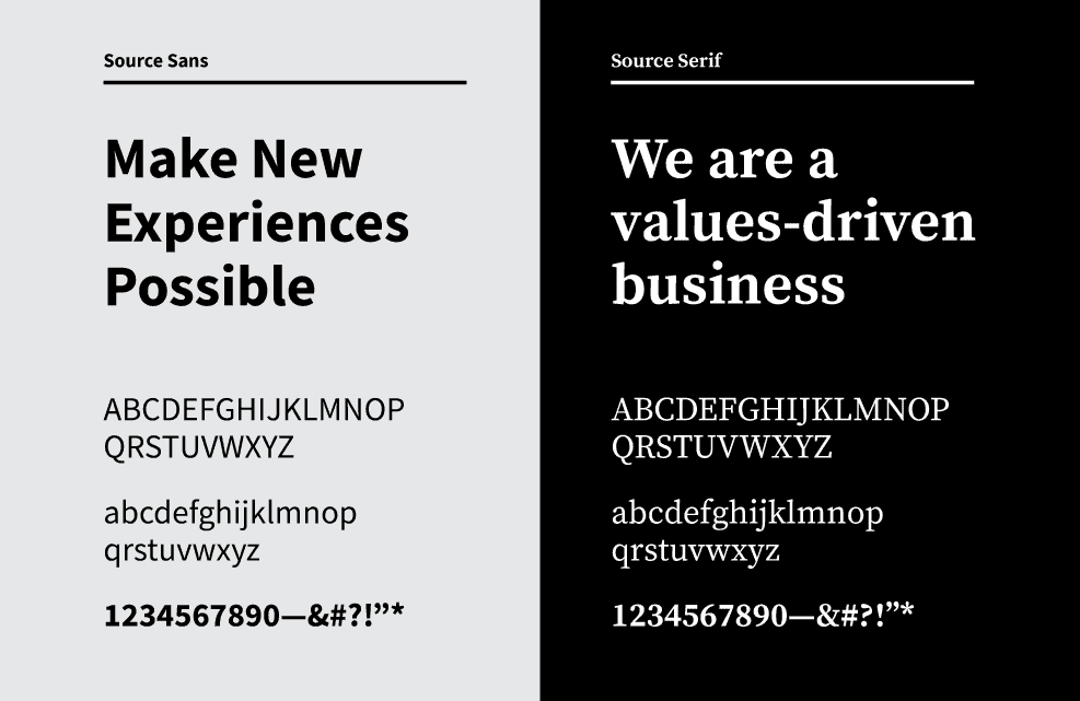 Image of OXD's rebrand typefaces