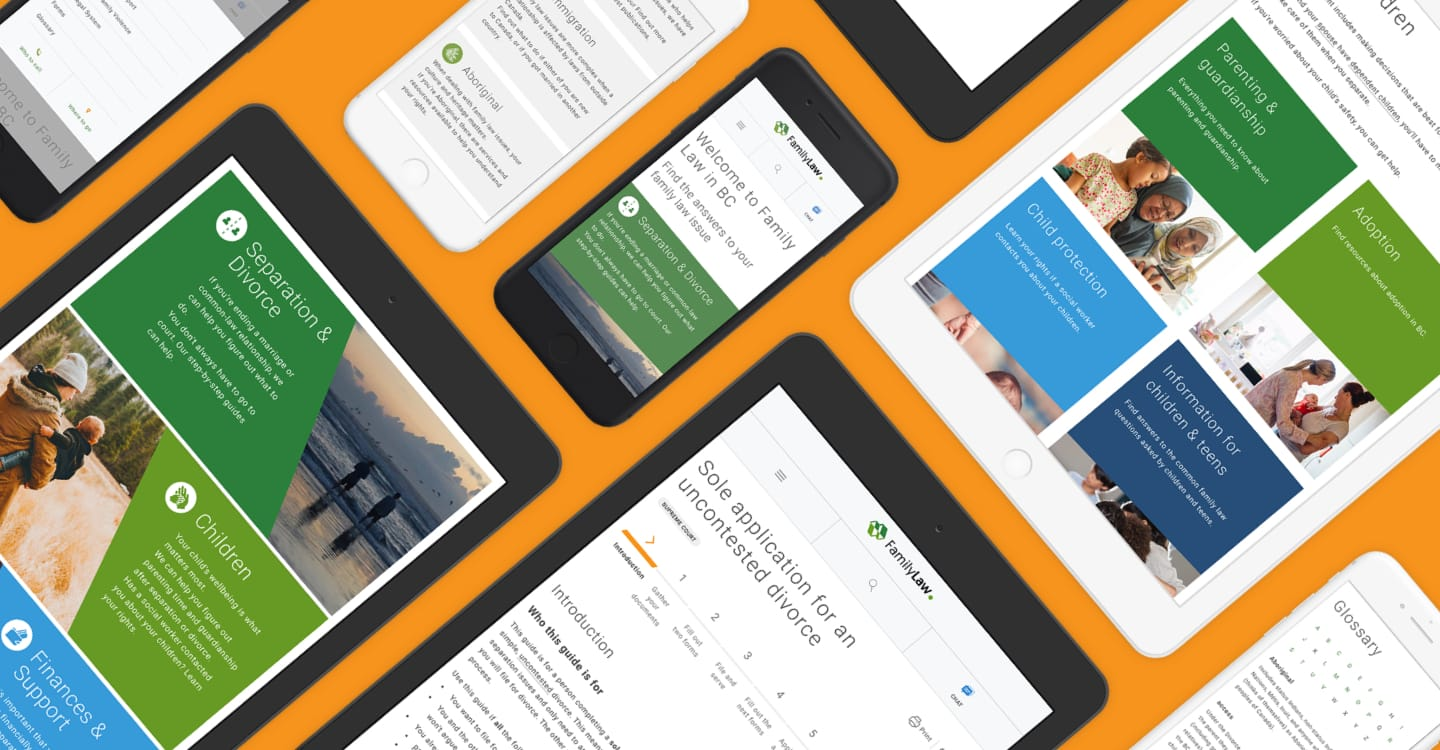 image of the new BC Family Law website on mobile and tablet