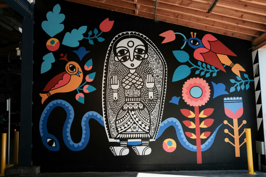 """""""Raise Your Words, Not Your Voice"""" mural by South Asian Artist Sandeep Johal"""